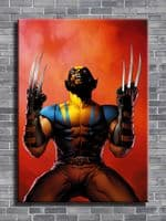 WOLVERINE - CRY OUT RED canvas print - self adhesive poster - photo print